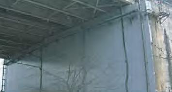 橋台壁面のコンクリート表面被覆工