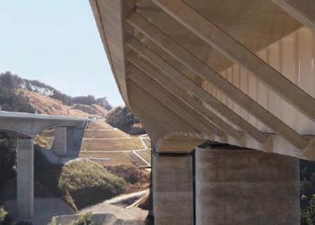 新東名高速道路(静岡県)谷津川橋 端部防水