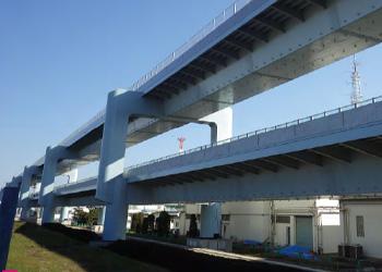 圏央道茅ヶ崎工区( 神奈川県) 繊維シート剥落防止
