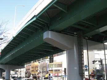 名古屋道路公社(愛知県)鋼桁 高欄等塗装補修